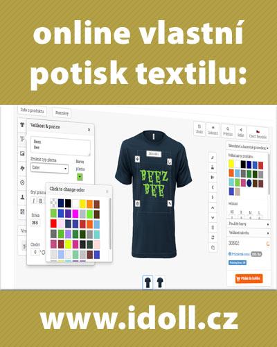 Idoll.cz - potisk textilu s online návrhem