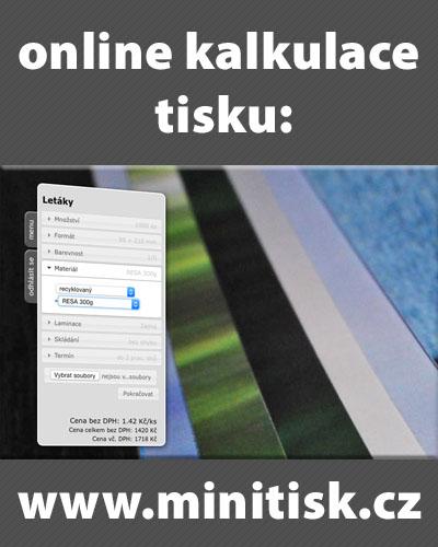 Minitisk.cz - online kalkulace a objednávání tiskovin